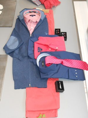 "Gilet ""GANT"", Chemise ""BOSS"", Polo ""RIVER WOODS"", Boutons de manchette ""BOSS"", Pince à cravate ""BOSS"""