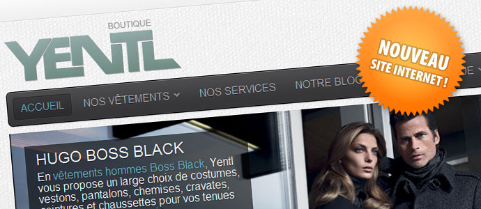 Nouveau site Internet boutiqueyentl.be